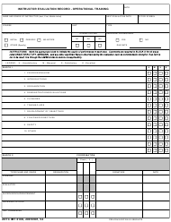"AETC Form 610O ""Instructor Evaluation Record - Operational Training"""
