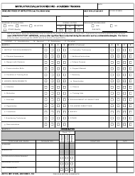 """AETC Form 610S """"Instructor Evaluation Record - Academic Training"""""""