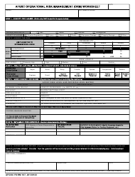 "AFGSC Form 167 ""Afgsc Operational Risk Management (Orm) Worksheet"""