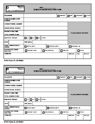 "AFRC Form 22 ""Sem/Edx Debris Analysis Form"""