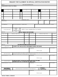 "AFSOC Form 6 ""Request for Placement on Special Certification Roster"""