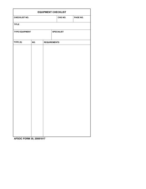 AFSOC Form 30  Printable Pdf