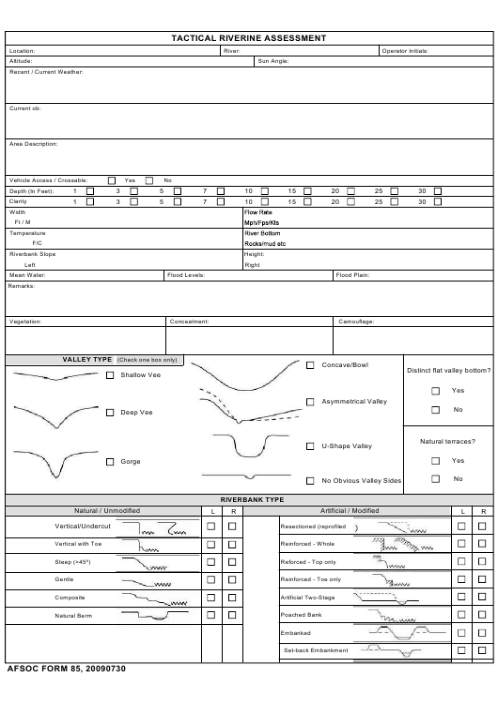 AFSOC Form 85  Printable Pdf