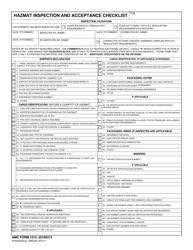 """AMC Form 1015 """"Hazmat Inspection and Acceptance Checklist"""""""