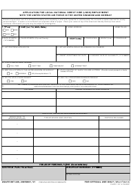 """USAFE IMT Form 228 """"Application for Local National Direct Hire (Lndh) Employment With the United States Air Force in the United Kingdom and Norway"""""""