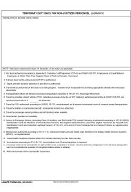 """USAFE Form 264 """"Temporary Duty Back for Non-us Citizen Personnel (Germany)"""""""
