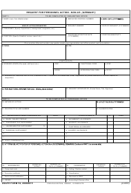 """USAFE Form 52 """"Request for Personnel Action - Non-us (Germany)"""""""