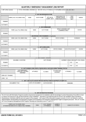 """USAFE Form 232 """"Quarterly Emergency Management (Em) Report"""""""