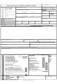 """USAFA Form 17 """"Request for Usafa Scheduling Committee Action"""""""