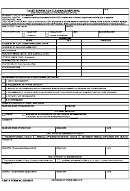 """USAFA Form 34 """"Cadet Separation Clearance/Referral"""""""