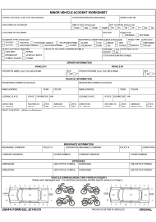 "USAFA Form 625 ""Minor Vehicle Accident Worksheet"""