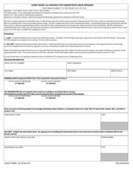 "USAFA Form 118 ""Cadet Basic Allowance for Subsistence (Bas) Request"""