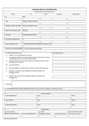 "AFSC Form 100 ""Floating Line Fill Floating Stock"""