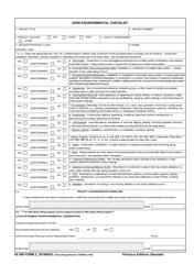 """45 SW Form 2 """"45sw Environmental Checklist"""""""