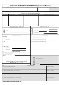"""45 SW Form 2255 """"Radiation Use Request/Authorization (Radioactive Materials)"""""""