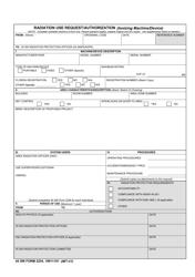 "45 SW Form 2254 ""Radiation Use Request/Authorization (Ionizing Machine/Device)"""