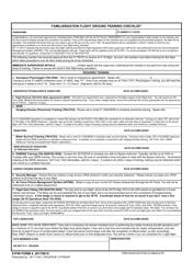 "51 FW Form 4 ""Familiarization Flight Ground Training Checklist"""