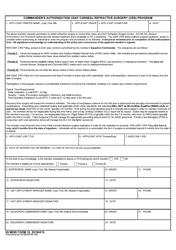 "59 MDW Form 19 ""Commander's Authroization Usaf Corneal Refractive (Crs) Program"""