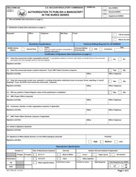 "NRC Form 426 ""Authorization to Publish a Manuscript in the Nureg Series"""