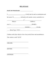 Bill of Sale Form - Etowah County, Alabama