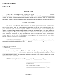 """Generic Bill of Sale Form"" - Lauderdale County, Alabama"