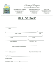 """Vehicle Bill of Sale Form"" - Lawrence County, Alabama"