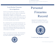 ATF Form P 3312.8 Personal Firearms Record