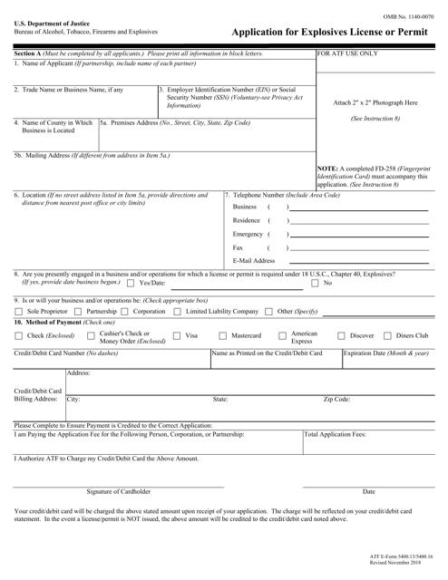 ATF Form 5400.13 Fillable Pdf