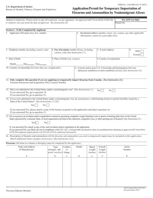 ATF Form 5330.3D ( 6NIA) Printable Pdf