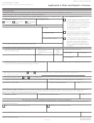 ATF Form 5320.1 Atf Form 1 - Application to Make and Register a Firearm