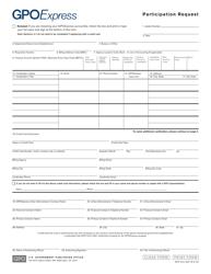 "GPO Form 3001 ""Participation Request"""