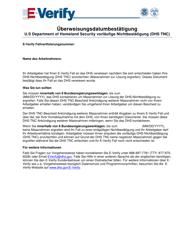 """Referral Date Confirmation - Tentative Nonconfirmation (Tnc)"" (German)"