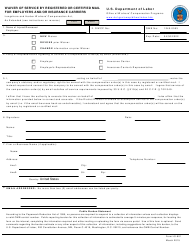 Form LS-801 Waiver of Service by Registered or Certified Mail for Employers and/Or Insurance Carriers