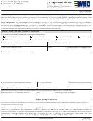 Form WH-2 Application for Special Industrial Homeworker's Certificate