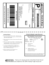 "Sample PS Form 5630 ""Shipment Confirmation Acceptance Notice"""