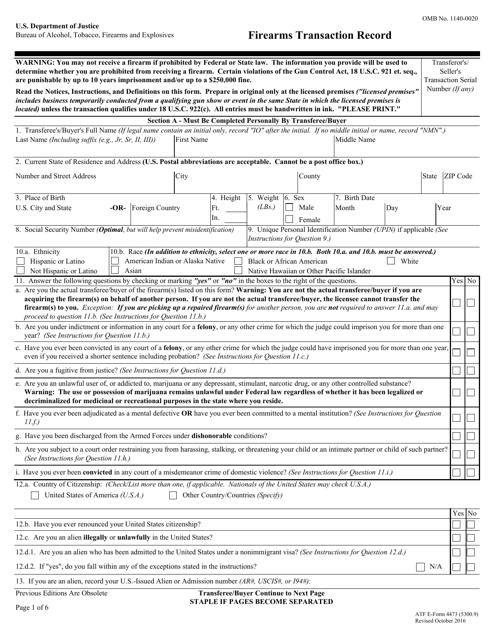 ATF Form 5300.9 Fillable Pdf