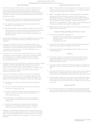 """ATF Form 5330.3B (6) Part 2 """"Application and Permit for Importation of Firearms, Ammunition and Defense Articles"""", Page 2"""