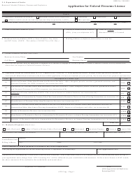 ATF Form 5310.12 (Atf Form 7) Atf Form 5310.16 (Atf Form 7cr) - Application for Federal Firearms License