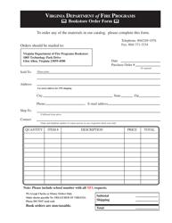 """Bookstore Order Form"" - Virginia"