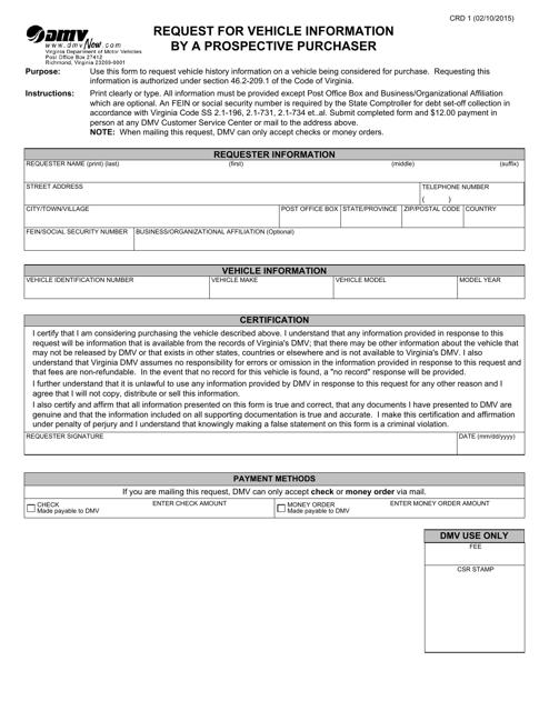 Form CRD1  Printable Pdf