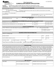 """Form DI14 """"Curriculum Vendor Application"""" - Virginia"""
