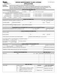 "Form DI15 ""Driver Improvement Clinic License Application"" - Virginia"