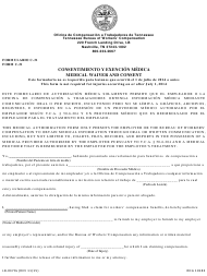 "Form C-31 (LB-0379S) ""Medical Waiver and Consent"" - Tennessee (English/Spanish)"