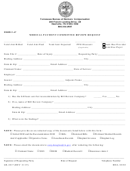 "Form C-47 (LB-1017) ""Medical Payment Committee Review Request"" - Tennessee"