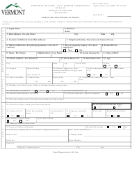 """DOL Form 1 """"Employer First Report of Injury"""" - Vermont"""