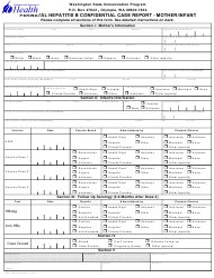 "Form DOH348-030 ""Perinatal Hepatitis B Confidential Case Report - Mother/Infant"" - Washington"