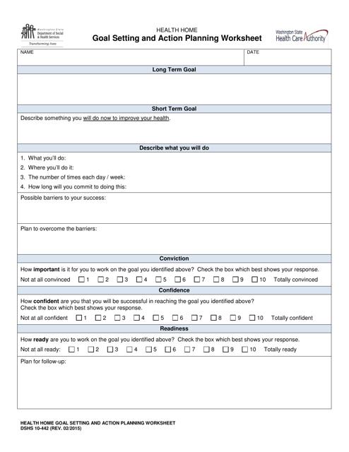 DSHS Form 10-442  Printable Pdf