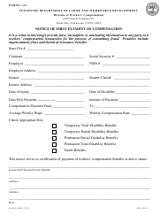 "Form C-22 (LB-0024) ""Notice of First Payment of Compensation"" - Tennessee"