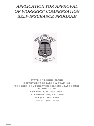 "Form RI SI-2 ""Application for Approval of Workers' Compensation Self-insurance Program"" - Rhode Island"