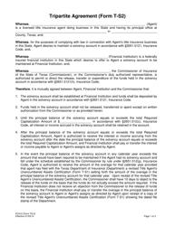 "Form T-S2 (PC412) ""Tripartite Agreement"" - Texas"